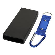 Portachiavi con placchetta in metallo - colore Blu