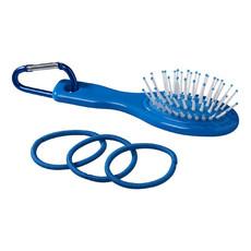 Spazzola ed elastici per capelli - colore Process Blu