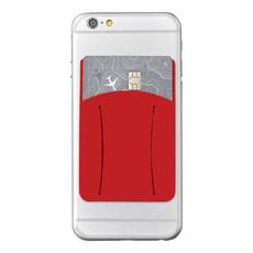 Porta carte con fessura per dito - colore Rosso