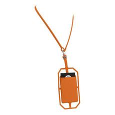 Porta carte in silicone per cellulare - colore Arancio