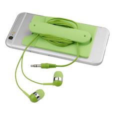 Auricolari e portacarte da cellulare - colore Lime