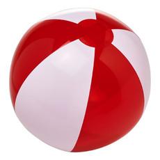 Pallone da spiaggia solido e trasparente - colore Bianco/Rosso