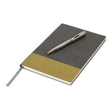 Set blocco note e penna Midas Luxe - colore Grigio