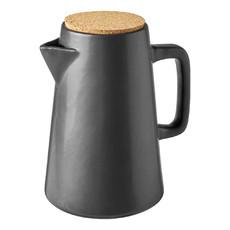 Caraffa in ceramica nera - colore Grigio