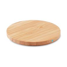 Caricatore wireless rotondo in bamboo colore legno MO9434-40