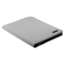 Cartella A4 in poliestere bicolore colore grigio MO9549-07