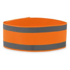 Fascia da braccio in licra colore arancio neon