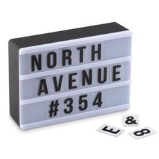 Lavagna luminosa con lettere mobili colore nero MO9468-03