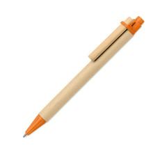 Penna a sfera ecologica in carta e plastica di mais colore arancio MO6119-10