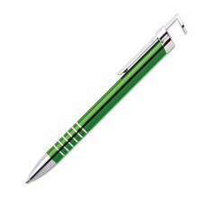 Penna in alluminio con supporto smartphone colore verde MO9497-09