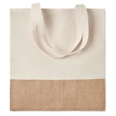 Shopper cotone e juta colore beige MO9518-13