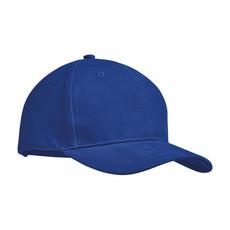 Cappellino 6 pannelli cotone pesante colore blu royal MO9643-37