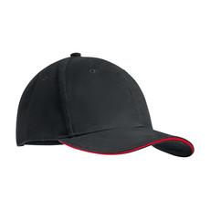 Cappellino con visiera in contrasto colore rosso MO9644-05