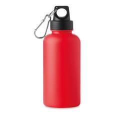 Borraccia in plastica da 500ml con moschettone colore rosso