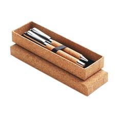 Set penne in sughero colore legno MO9678-40