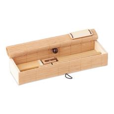 Set scrittura ecologico colore legno MO9572-40