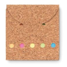 Memopad in sughero 125 fogli colore beige MO9858-13