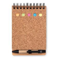 Notebook in sughero 40 fogli a righe colore nero MO9856-03