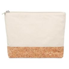 Portacosmetici in cotone e sughero colore beige MO9817-13