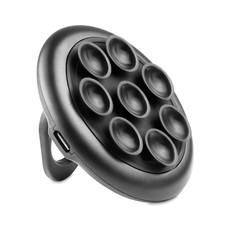 Caricatore wireless tondo con ventosa colore nero MO9884-03