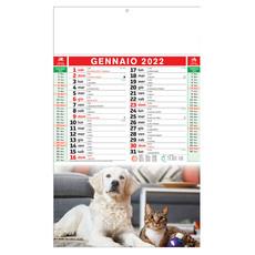 Calendario illustrato cani e gatti 2022