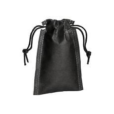 Sacchetto in tnt con cordini 10x14 cm  colore nero