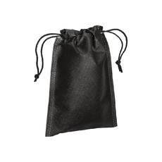 Sacchetto in tnt con cordini 15x20 cm  colore nero