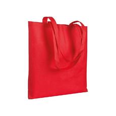 Shopper in TNT cucito  colore rosso