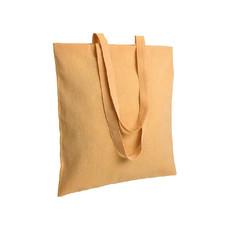 Shopper in cotone riciclato 38x42 cm colore giallo
