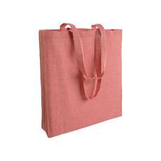 Shopper in cotone riciclato effetto melange colore rosso