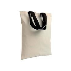 Shopper mini in cotone con manici colorati colore nero