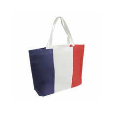 Borsa shopper con stampa tricolore colore tricolore fr