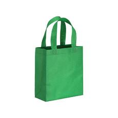Mini shopper con manici corti in tnt colore verde