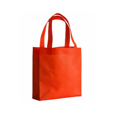 Mini shopper in tnt con soffietto  colore arancione