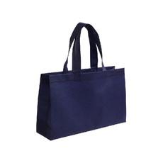 Shopper Rectangle in tnt con manici corti colore blu