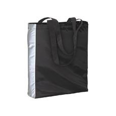 Shopper con lato catarinfrangente  colore nero