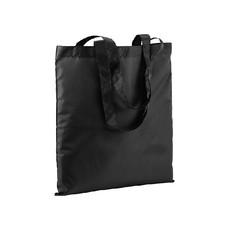 Shopper in Pet riciclato con manici a nastro colore nero