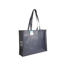 Shopper in RPET con manici lunghi colore blu