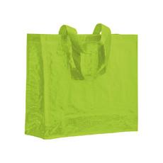 Shopper in polipropilene laminato colore verde mela