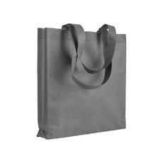 Shopper in tnt con soffietto e manici  colore grigio