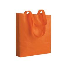 Shopper in tnt termosaldato 80g colore arancione