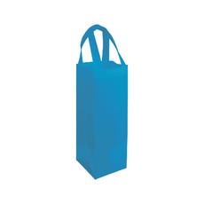Shopper porta bottiglia in TNT colore celeste