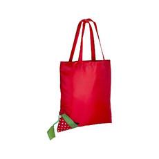 Shopper ripiegabile a forma di fragola colore rosso