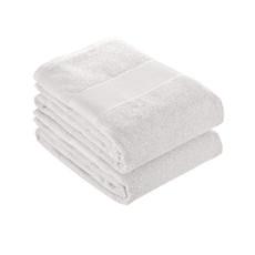 Asciugamano in spugna di cotone  colore bianco