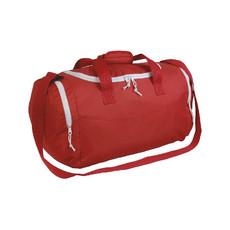 Borsa sport con tasca porta scarpe colore rosso bianco