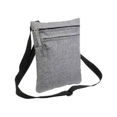 Borsello doppia tasca effetto melange colore grigio