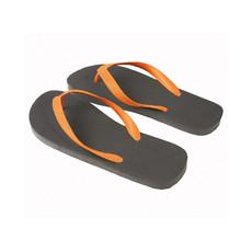 Infradito nero con fascia colorata colore arancione
