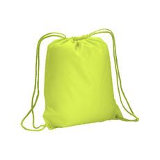 Sacca fluo con chiusura a strozzo colore giallo