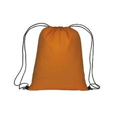 Sacca in TNT con chiusura a strozzo colore arancione