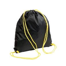 Sacca nera con cordini colorati colore giallo